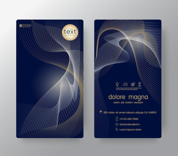 Gift certificate voucher coupon business cards template vector gift certificate voucher coupon business cards template premium vector reheart Gallery