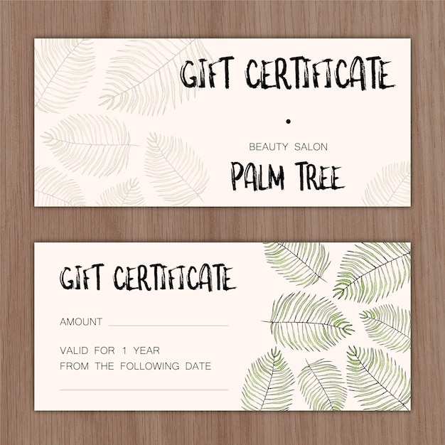 Gift certificate Vector | Free Download