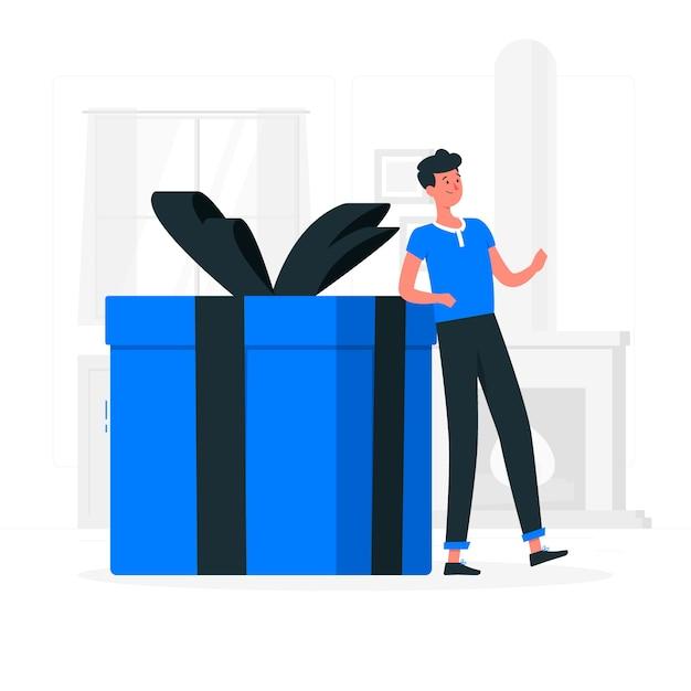 Иллюстрация концепции подарка Бесплатные векторы