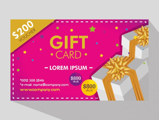 Gift Coupon With Discount Price Free Vector
