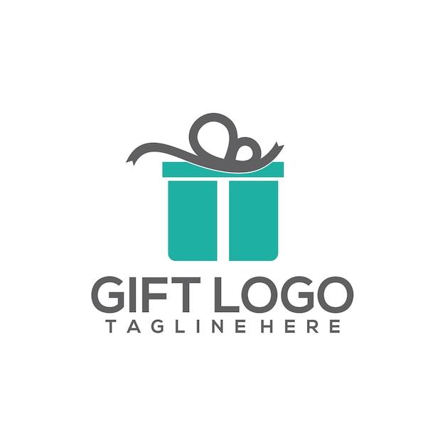 Gift logo Premium Vector
