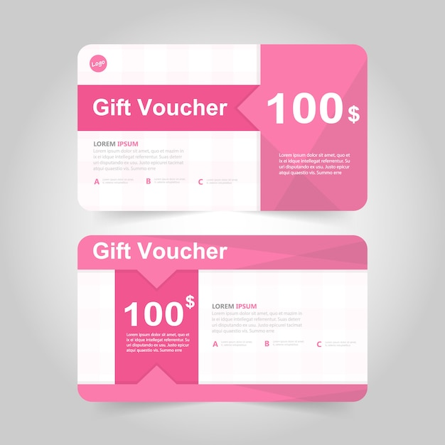 gift voucher card design vector free download