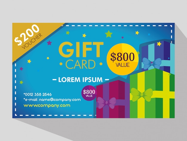 Gift voucher card with special discount Free Vector