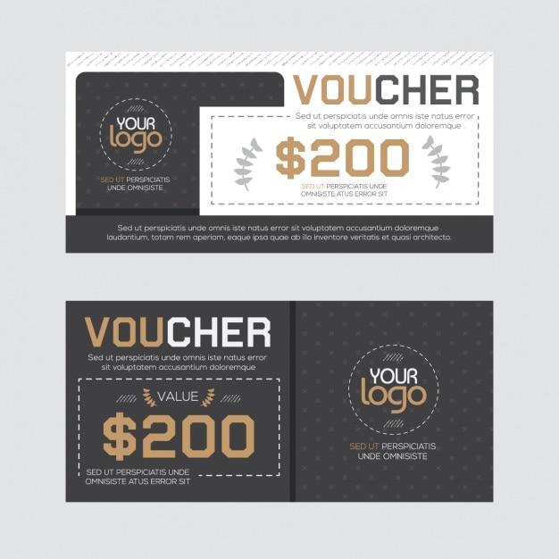 Gift voucher design Vector | Free Download