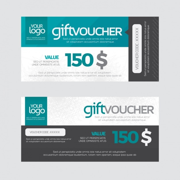 Gift voucher design vector free download for Hotel voucher design