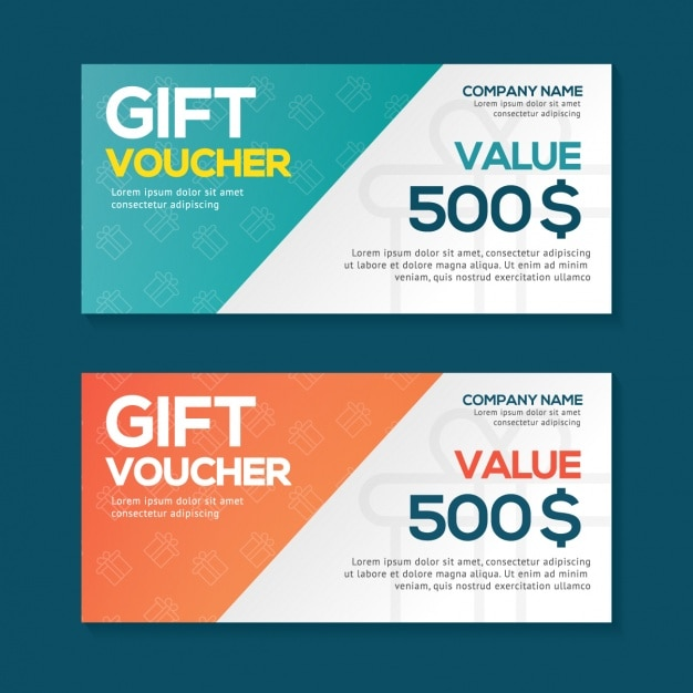 gift voucher design free vector