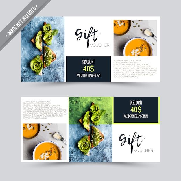 Gift voucher restaurant design vector free download