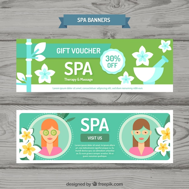Gift voucher for the spa Free Vector