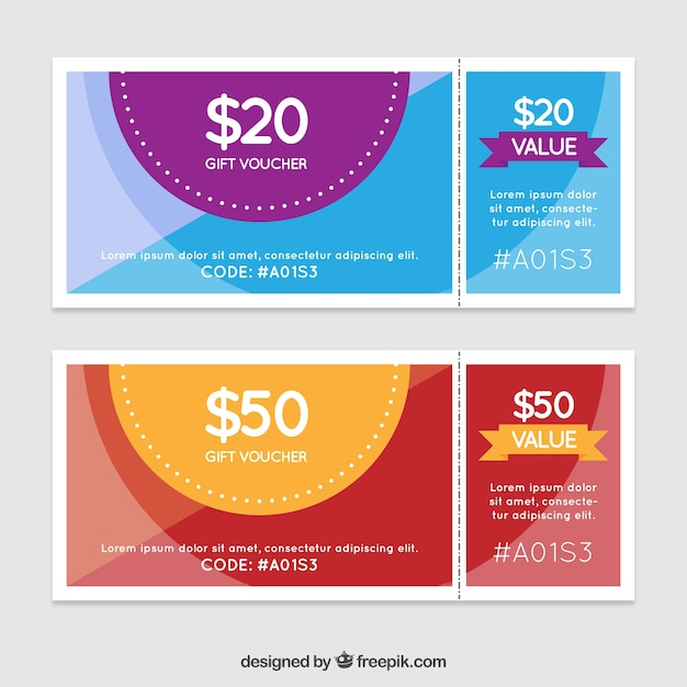 Gift Voucher Template Pack Vector  Free Download