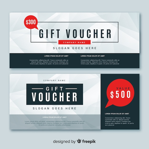 Gift voucher template with modern style Vector | Free Download