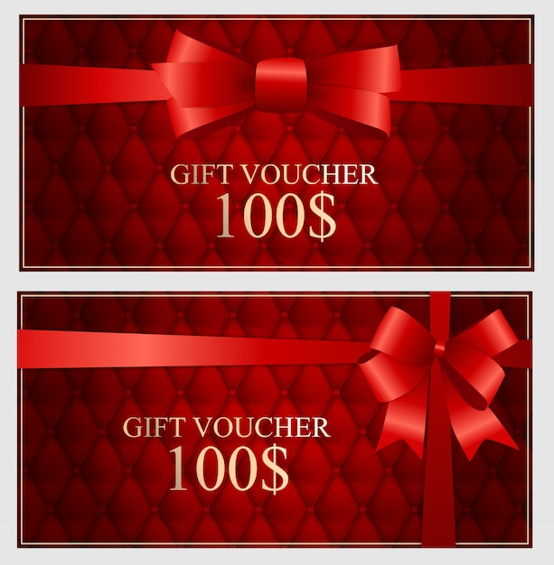 Gift voucher template for your business Premium Vector