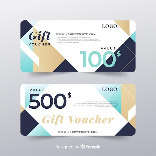 Gift voucher template Free Vector