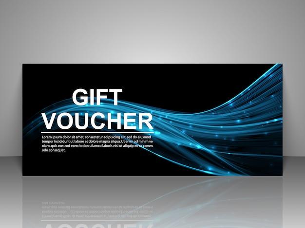 Gift voucher template. Premium Vector