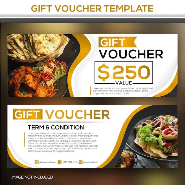 Gift voucher template Premium Vector