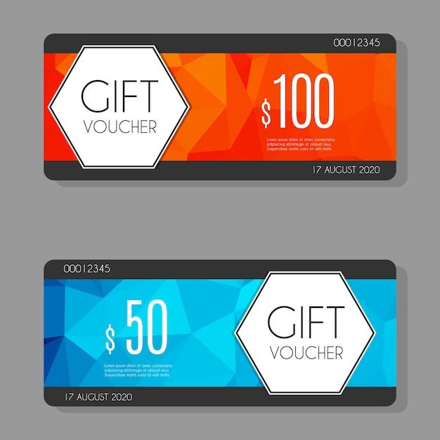 Gift voucher template Vector | Premium Download