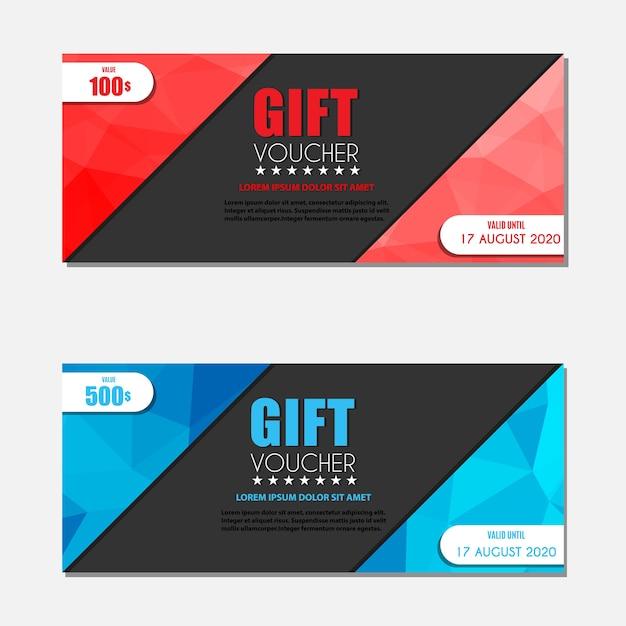 Gift Voucher Template Vector Premium Download