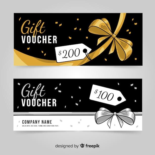 Gift voucher Free Vector