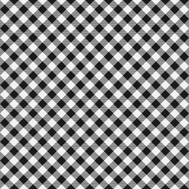 Gingham seamless plaid pattern vector Premium Vector