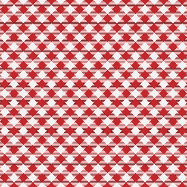 Gingham seamless plaid pattern. Premium Vector
