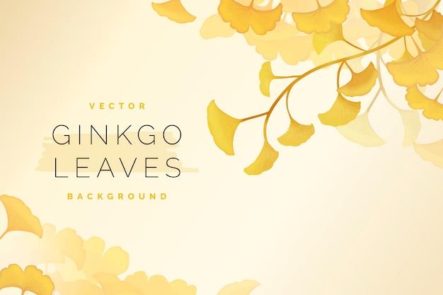 Gingko leaf background Free Vector
