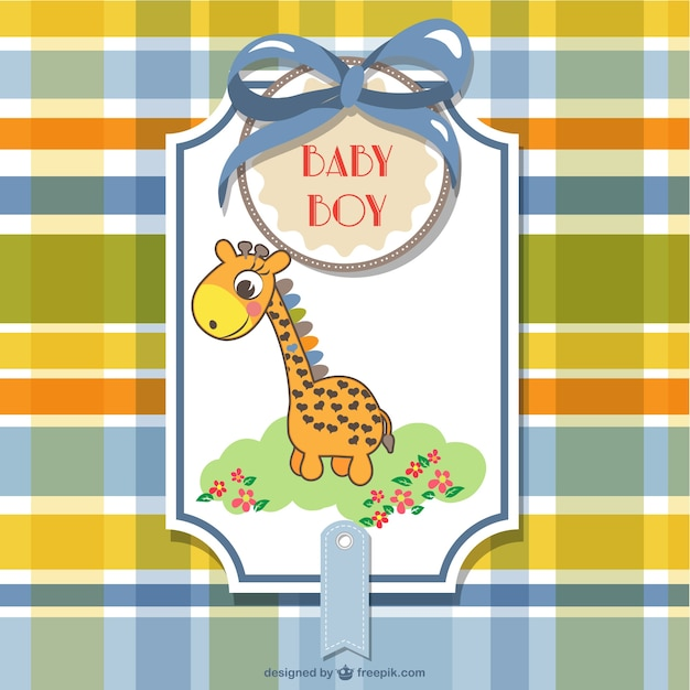 Baby shower vector | free download.