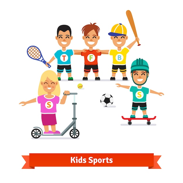 Girl and boys physical activities
