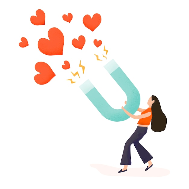Girl attracting more followers vector Free Vector
