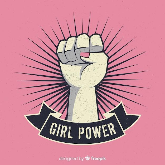 Girl fist symbol Free Vector