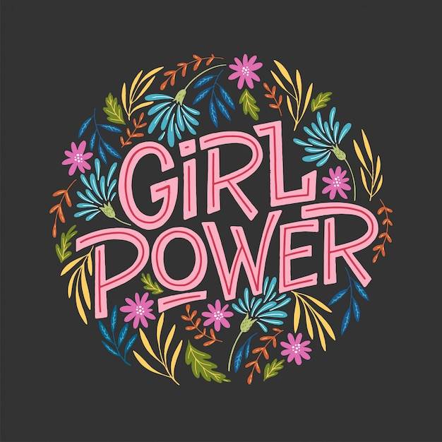 Girl power illustration Premium Vector