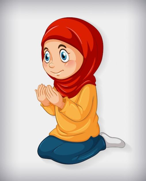 女の子の宗教 無料ベクター