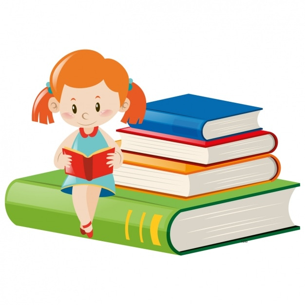 Girl reading design Vector | Free Download