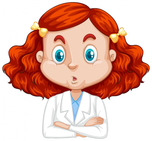 Girl in science gown Free Vector