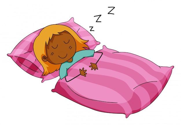 Ragazza che dorme Vettore gratuito