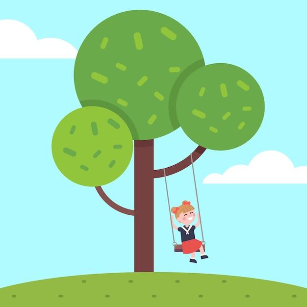 How that swing swinging tree