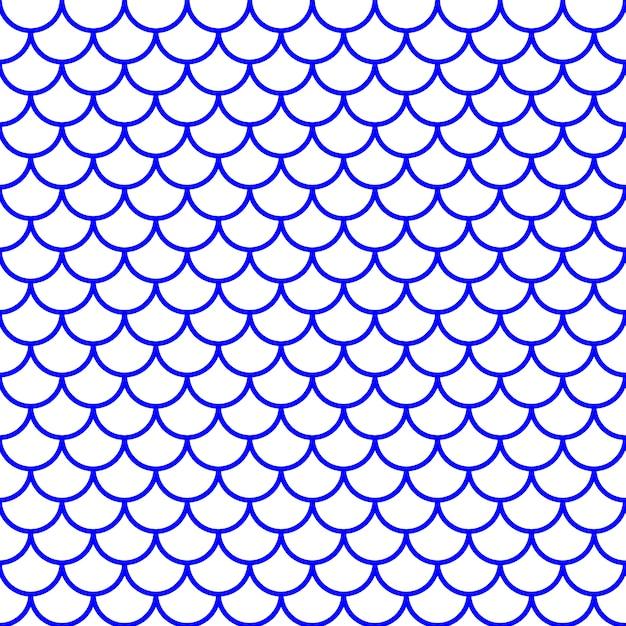 Girlish fish scale pattern. vector illustration Premium Vector