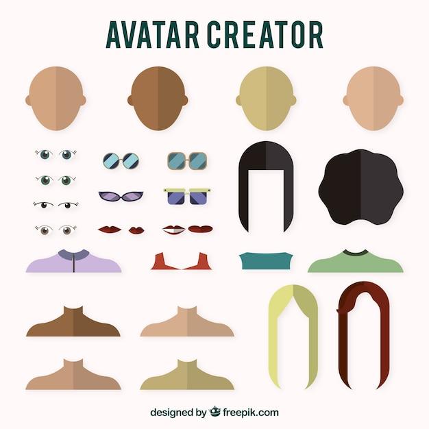 Girls Avatar Creator Vector Free Download