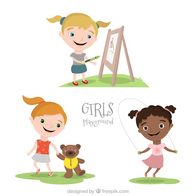 Girls playground Free Vector
