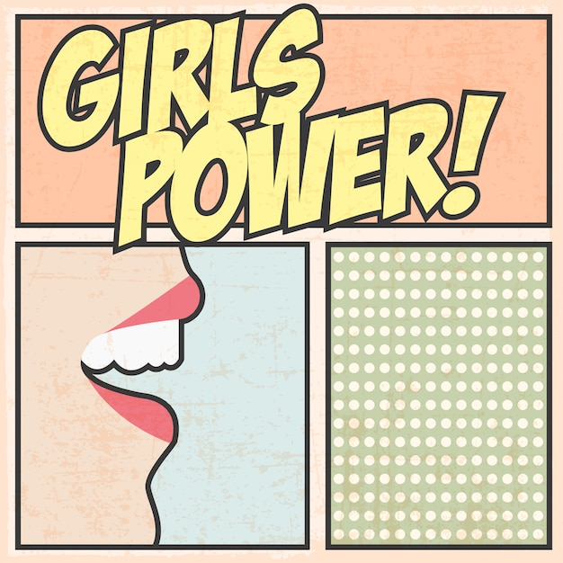 Girls power Premium Vector