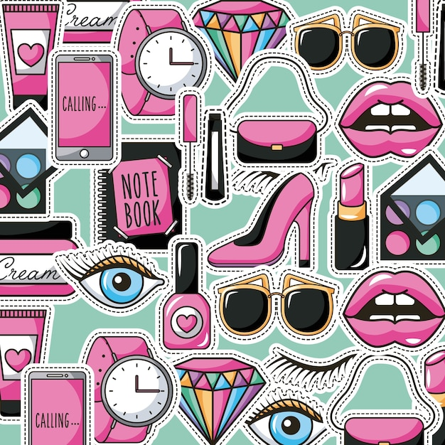 girly pattern premium vector