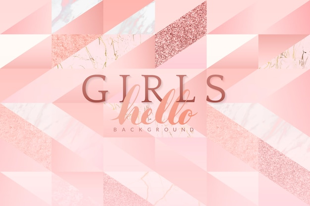 Girly Pink Background Vector Free Download