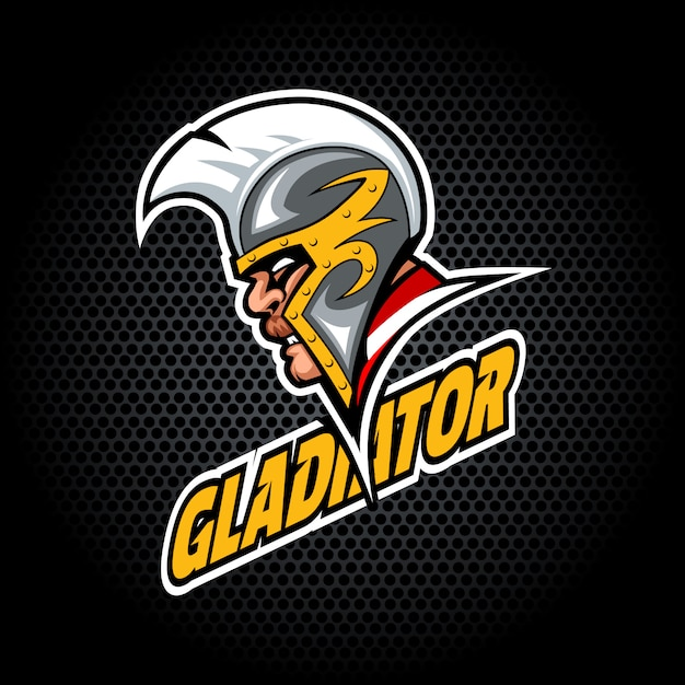 Gladiator head from side. can be used for club or team logo. Premium Vector