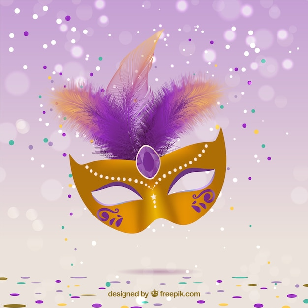 Glamorous Carnival Mask Free Vector