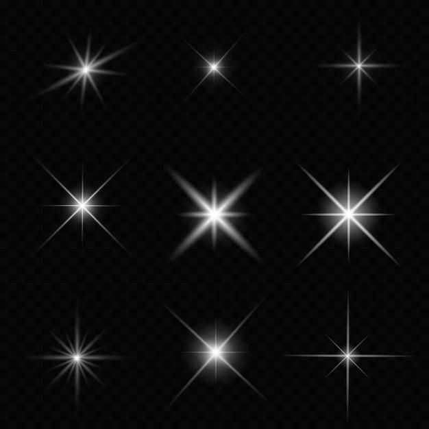 반짝 반짝 빛나는 별 프리미엄 벡터