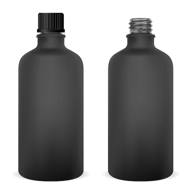 Glass bottle medical vial Premium Vector