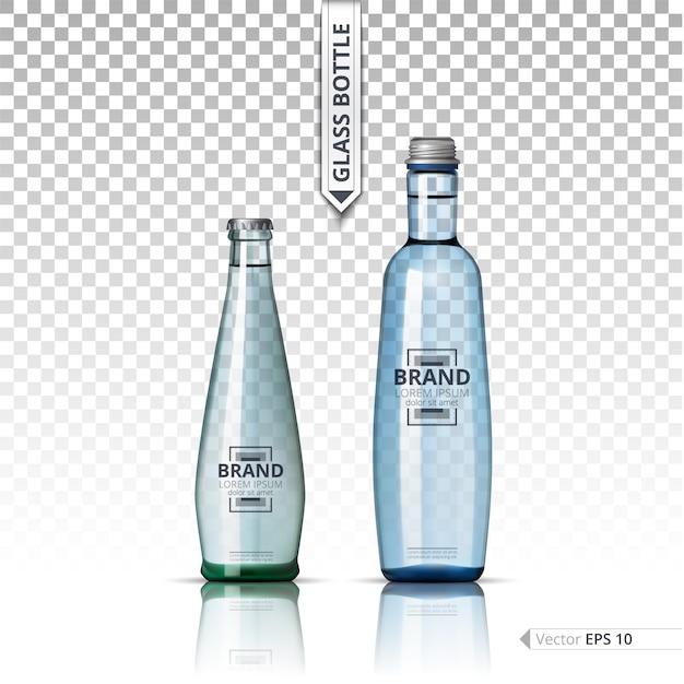 glass bottle template vector premium download