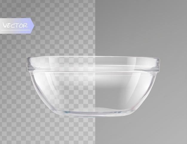 Glass bowl. Premium Vector