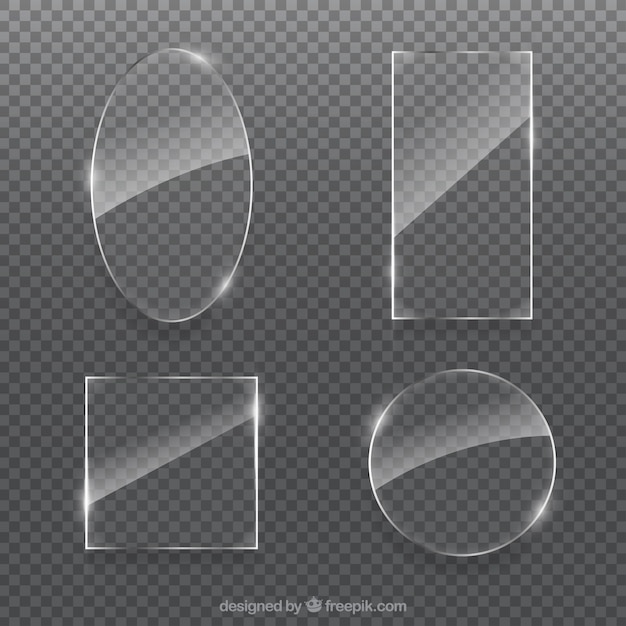 Glass collection with different shapes Free Vector