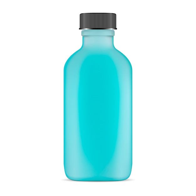 Glass cosmetic bottle Premium Vector