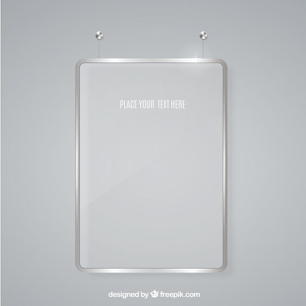 Glass frame for message Vector | Free Download