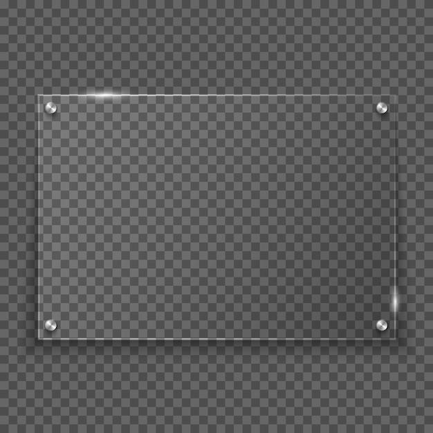 Glass frame Premium Vector